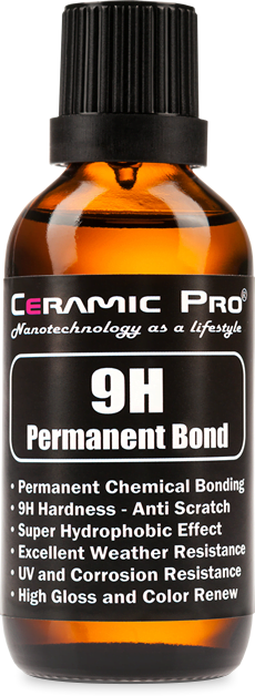 Ceramic Pro 9H Permanent Bond - Ceramic Coating, Permanent Chemical Bonding, Anti-scratch