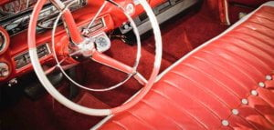 Interior car upholstery restoration
