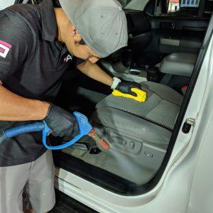Steam Cleaning Car interior Austin Round Rock