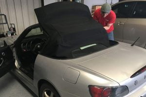 Car convertible top replacement